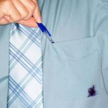 Как удалить пятно от шариковой ручки