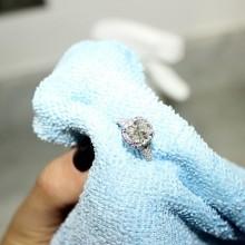 Чистка золота с бриллиантами