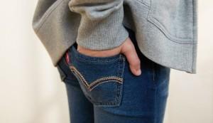Выведение жирных пятен с джинсов