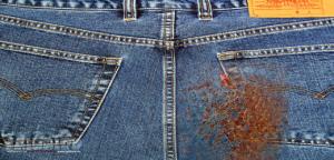 Как убрать пятна от ржавчины с одежды
