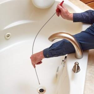 Устраняем засор в ванной