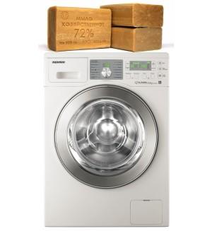 Стирка в машинке с хозяйственным мылом