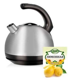 Чистим чайник от накипи лимонной кислотой