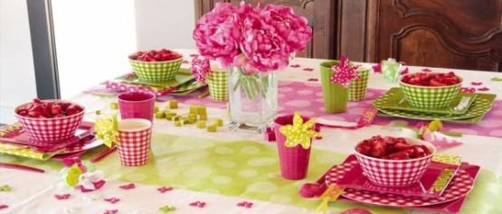 Оформление стола для девочки на день рождения