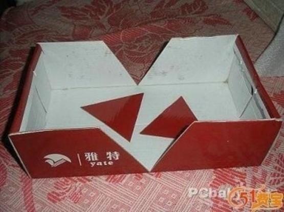 Вырезать треугольники из коробки