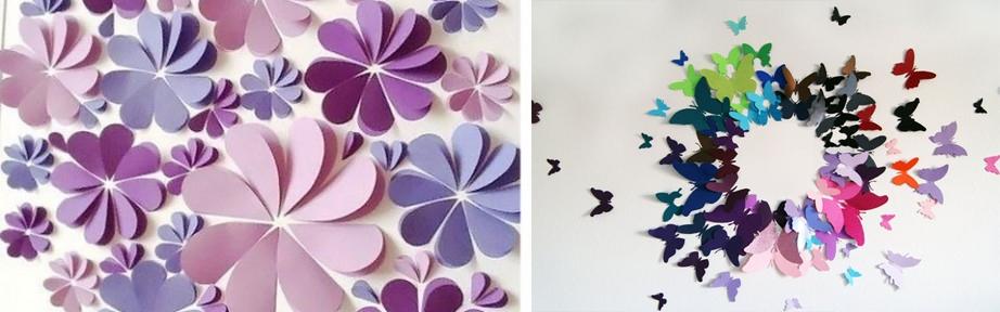 Бабочки из бумаги для украшения зала своими руками 42